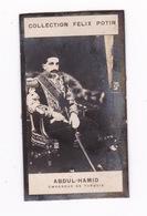 Petite Photo 1ère Collection Félix Potin (chocolat), Abdül-Hamid, Empereur De Turquie, Anonyme, Paris, Vers 1900 - Albums & Collections