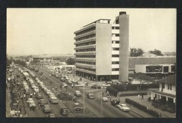 Ghana Aerial View Republic House Liberty Avenue Black & White Picture Postcard - Ghana - Gold Coast