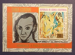 1974 Airmail, The 1st Anniversary Of The Death Of Pablo Picasso,  Rep. De Guinea Equatorial, **,*, Or Used - Guinea (1958-...)