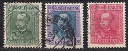 ERITREA (colonia Italiana) - 1931 - Tre Valori Usati: Yvert 192/194. - Eritrea