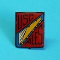 1 PIN'S //   ** U.S.C.A. / UNION SPORTIVE DES CHEMINOTS D'ALES / CÉVENNES ** - Judo
