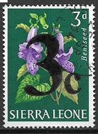 COLONIE INGLESI  1964-65 FRANCOBOLLI SOPRASTAMPATI YVERT. 261 USATO VF - Sierra Leone (1961-...)