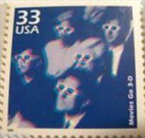 USA 1999 Celebrate The Century 1950's Stamp-Movies Go 3D Sc#3187o Cinema - Cinema