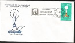J) 1979 MEXICO, CENTENARY OF THE INVENTION OF THE ELECTRIC BULB, THOMAS ALVA EDISON, FDC - Mexico