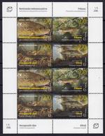 Bosnia Croatia 2018 Fauna, Fishes, Salmothymus Obtusirostrisoxyrhynchus, Phoxsinellus Pseudalepi.. Mini Sheet MNH - Bosnie-Herzegovine