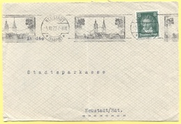 Deutsches Reich - 1927 - 8 + Flamme - Fragment - Stadtsparkasse - Viaggiata Da Neustadt Per Neustadt - Covers & Documents