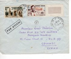 "Lettre  Messageries Maritimes  CARGO "" LES GLIERES"" Vers Colombo CEYLON  Timbres Divers Erinophilie - Marcophilie (Lettres)"