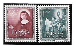 ESPAÑA 1952 Ed 1116/7 MNH E080 - 1951-60 Nuovi