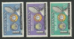 PHILIPPINES 1965 METEOROLOGICAL SERVICE WEATHER BUREAU ANNIVERSARY SET MNH - Philippines
