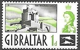 1960 1p Queen Elizabeth, Mint Light Hinged - Gibraltar
