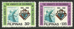 PHILIPPINES 1980 MILITARY KNIGHTS OF COLUMBUS SHIPS SET MNH - Philippines