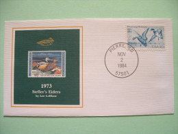 USA 1984 America Duck Stamps - Hunting Tax - 1973 Steller Eiders - Wetlands - Lettres & Documents