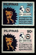 PHILIPPINES 1980 MEDICAL RHEUMATISM CONFERENCE SET MNH - Philippines