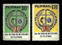 PHILIPPINES 1979 METHODISM 80TH ANNIVERSARY SET MNH - Philippines