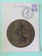 "Algeria 1960 Maxicard """"Semeuse"""" Sower Coin - Algerien (1962-...)"