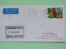Great Britain 1993 Army RFA Cover (Yugoslavia War) From Adriatic Sea To Texas USA - Fruit Pear - 1952-.... (Elizabeth II)