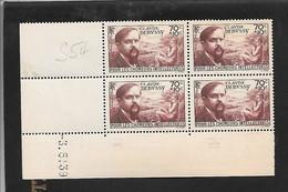 Bloc De 4 Coin Daté Y Et T 437 Debussy Du 03/05/1939 Neuf - Coins Datés