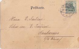 Bas Rhin, CP (Mondelange, Tuilerie, Maison Humbert) Obl. Rothau (T148 Rothau ***) Sur 5pf Le 3/1/03 Pour Saulxures - Alsace-Lorraine