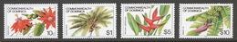Dominica 1981-85 Mi# 735II+ 744II+ 746II+ 747II** DEFINITIVES, FLOWERS & FRUITS - Dominique (1978-...)