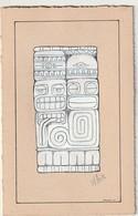 Dessin De M BOX  Ou M POX  Format Total  180mm X 115  (Très Très Bon  état) 110 Gr ) - Autres Collections