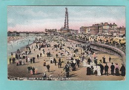 Old Post Card Of Sands,Promenade And Pier,Blackpool,R79. - Blackpool