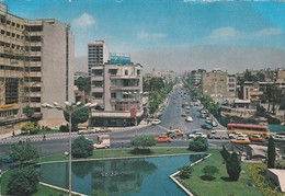 IRAN---RARE--TEHERAN--ferdosi Square--( Voitures Des Années 60-70 Bus Car )--voir 2 Scans - Iran