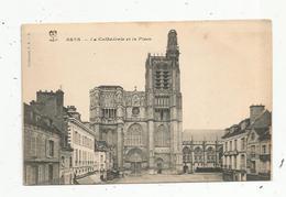 Cp , 89 , SENS ,la Cathédrale Et La Place, Vierge - Sens
