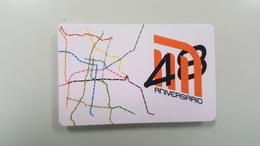 MEXICO - METRO - RECHARGEABLE CARD - 48 ANNIVERSARY - Wochen- U. Monatsausweise