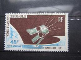 VEND BEAU TIMBRE DE POSTE AERIENNE DE LA COTE FRANCAISE DES SOMALIS N° 48 , XX !!! - Unused Stamps