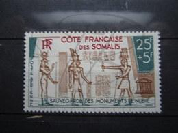 VEND BEAU TIMBRE DE POSTE AERIENNE DE LA COTE FRANCAISE DES SOMALIS N° 37 , X !!! - Unused Stamps
