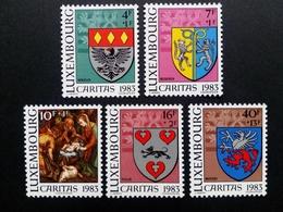 LUXEMBOURG MI-NR. 1086-1090 ** CARITAS 1983 - GEMEINDEWAPPEN - Briefmarken
