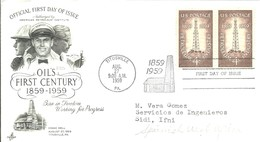 FDC USA 1959 - Oil