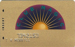 Reno Hilton Casino - Reno NV - 3rd Issue Slot Card - Reno Hilton Block Letters 2 Lines On Reverse - Casino Cards