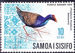 Samoa - Samoa-Sultansralle (Porphyrio Poliocephalus Samoensis) (MiNr. 157) 1967 - Gest Used Obl - Samoa