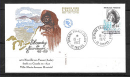 FRANCE FDC 1706 Premier Jour PAUL DE CHOMEDEY (TROYES) - 1970-1979