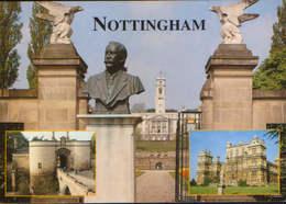 United Kingdom/England - Postcard Unused - University And Bust Of Sir Lesse Boot. Nottingham Castle Gates. - Nottingham