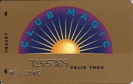 Reno Hilton Casino - Reno NV - 6th Issue Slot Card - Reno Hilton In Script 2 Lines On Reverse - Casino Cards