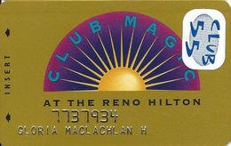 Reno Hilton Casino - Reno NV - 7th Issue Slot Card - Reno Hilton In Script 2 Lines On Reverse - Casino Cards