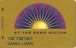 Reno Hilton Casino - Reno NV - 9th Issue Slot Card With Cpi 2006354 - Casino Cards