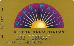 Reno Hilton Casino - Reno NV - 10th Issue Slot Card 1-888-547-2081 Phone# - Casino Cards