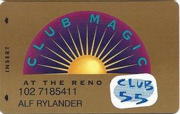 Reno Hilton Casino - Reno NV - 10th Issue Slot Card 1-888-547-2081 Phone# & Club 55 Sticker - Casino Cards