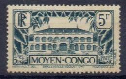FRANCE Et COLONIES !  Timbre Ancien NEUF* Du MOYEN-CONGO De 1933 N°132 - Congo Français (1891-1960)