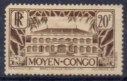 FRANCE Et COLONIES !  Timbre Ancien NEUF* Du MOYEN-CONGO De 1933 N°134 - Neufs
