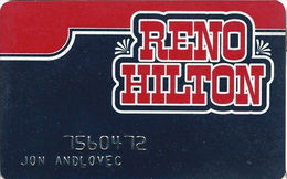 Reno Hilton Casino - Reno NV - Slot Card - Cartes De Casino