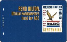 Reno Hilton Casino - Reno NV - BLANK Special Edition Slot Card - ABC Centennial - Cartes De Casino