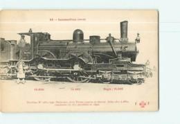 Cie Du NORD - Machine 2831 Pour Trains Express Et Directs - Les Locomotives  , Ed. Fleury - 2 Scans - Equipment