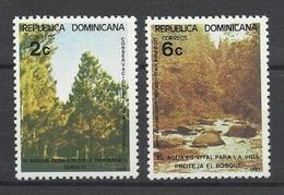 Dominicaine Dominicana 1981 Yvert 872/873 ** Protection Des Forets Forests - Dominicaine (République)