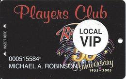 Riviera Casino - Las Vegas, NV - 50th Anniv. Slot Card - Local VIP Sticker - Casino Cards