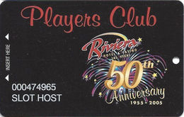 Riviera Casino - Las Vegas, NV - 50th Anniv. Slot Card - Slot Host Card - Cartes De Casino