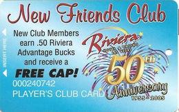 Riviera Casino - Las Vegas, NV - Special Temp Slot Card - Casino Cards